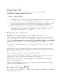 Metro Trail Count Counter App FAQ