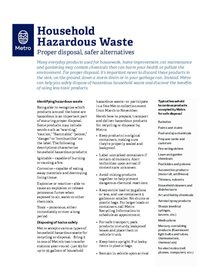 Información sobre residuos domésticos peligrosos – solo en inglés
