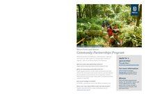 Parks and Nature community partnerships program summary