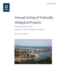 Annual Listing of Federally Obligated Projects, FFY 2018