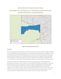 Beef Bend South residential impact analysis