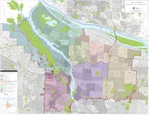 Neighborhood association boundaries map: Portland