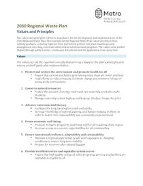 Regional Waste Plan: Endorsed principles