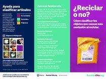 Reciclar o no folleto – versión en español