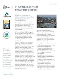 Factsheet: McLoughlin corridor brownfield cleanups