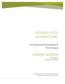 Gresham Vista Business Park Eco-industrial development: Lessons learned