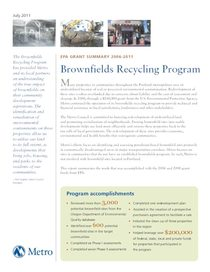 Brownfields recycling program EPA grant summary
