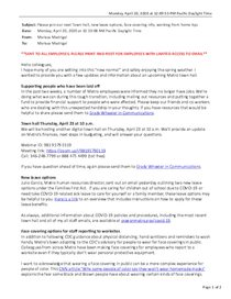 April 20: Town hall announcement