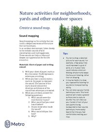Nature activities for neighborhoods - sound map