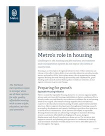 Metro's role in housing
