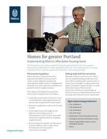 Homes for greater Portland fact sheet
