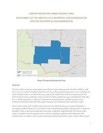 Cooper Mountain residential impact analysis