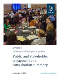 Appendix D - Public and stakeholder engagement and consultation summary