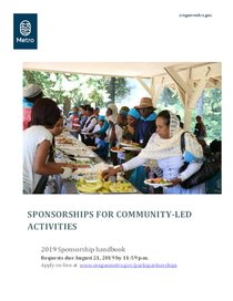 Fall 2019 Sponsorships for community-led activities handbook