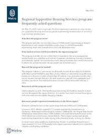 Supportive housing services: frequently asked questions
