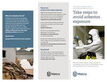 Take steps to avoid asbestos exposure