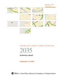 2009 High Capacity Transit System Plan summary