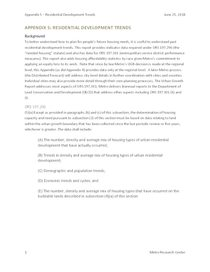 Appendix 5: Residential Development Indicators