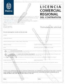 Solicitud de licencia de negocios para contratistas