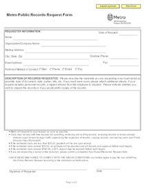 Public records request form