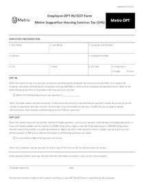 Metro tax OPT form - English