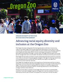 Oregon Zoo: Racial equity plan executive summary