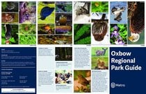 Oxbow Regional Park brochure with map