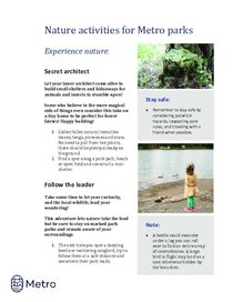 Nature activities for Metro parks - experience