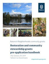 2019 Restoration grants pre-application handbook