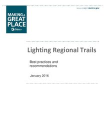 Best practices: Lighting regional trails