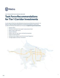 Get Moving 2020: Task Force recommendations for Tier One investments
