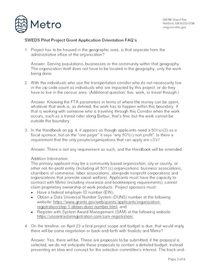 SWEDS Pilot Project FAQ's