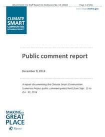 Final public comment report: Sept. 15 to Oct. 30, 2014