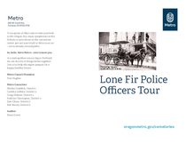Lone Fir Police Officers Tour
