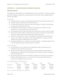 Appendix 1: Regional Economic Forecast