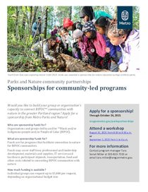 2021 sponsorship flyer