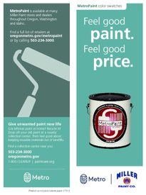 MetroPaint Miller Paint Co. brochure and swatches