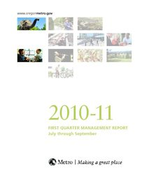 2010-11 quarter 1 management report