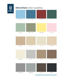 MetroPaint standard color swatches