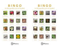 Garden bingo cards G and H