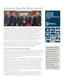 RTP Foreword from the Metro Council