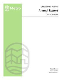 Auditor Annual Report 2021