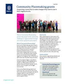 Community Placemaking grant program fact sheet