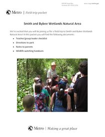 Group program packet for Smith and Bybee Wetlands Natural Area