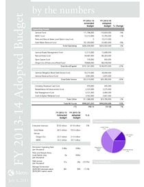 FY 2013-14 Budget by the numbers
