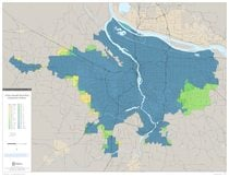 Urban growth boundary expansion history map