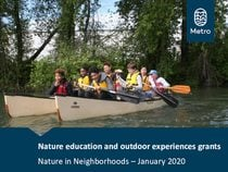 Slideshow nature education and outdoor experiences grant pre-application workshop