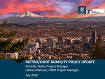Regional mobility policy update overview PowerPoint