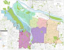 Neighborhood association boundaries map: Portland