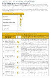 Safety strategy progress report appendix